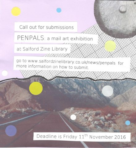 Penpals: Call for Submissions | Salford Zine Library